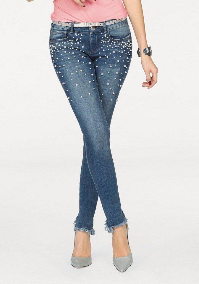 melrose skinny fit jeans mit perlen deko kaufen otto. Black Bedroom Furniture Sets. Home Design Ideas
