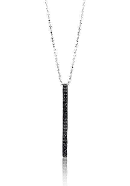 Sif Jakobs Jewellery Kette mit Anhänger »SIMERI GRANDE, SJ-P1013-BK/45« mit Zirkonia