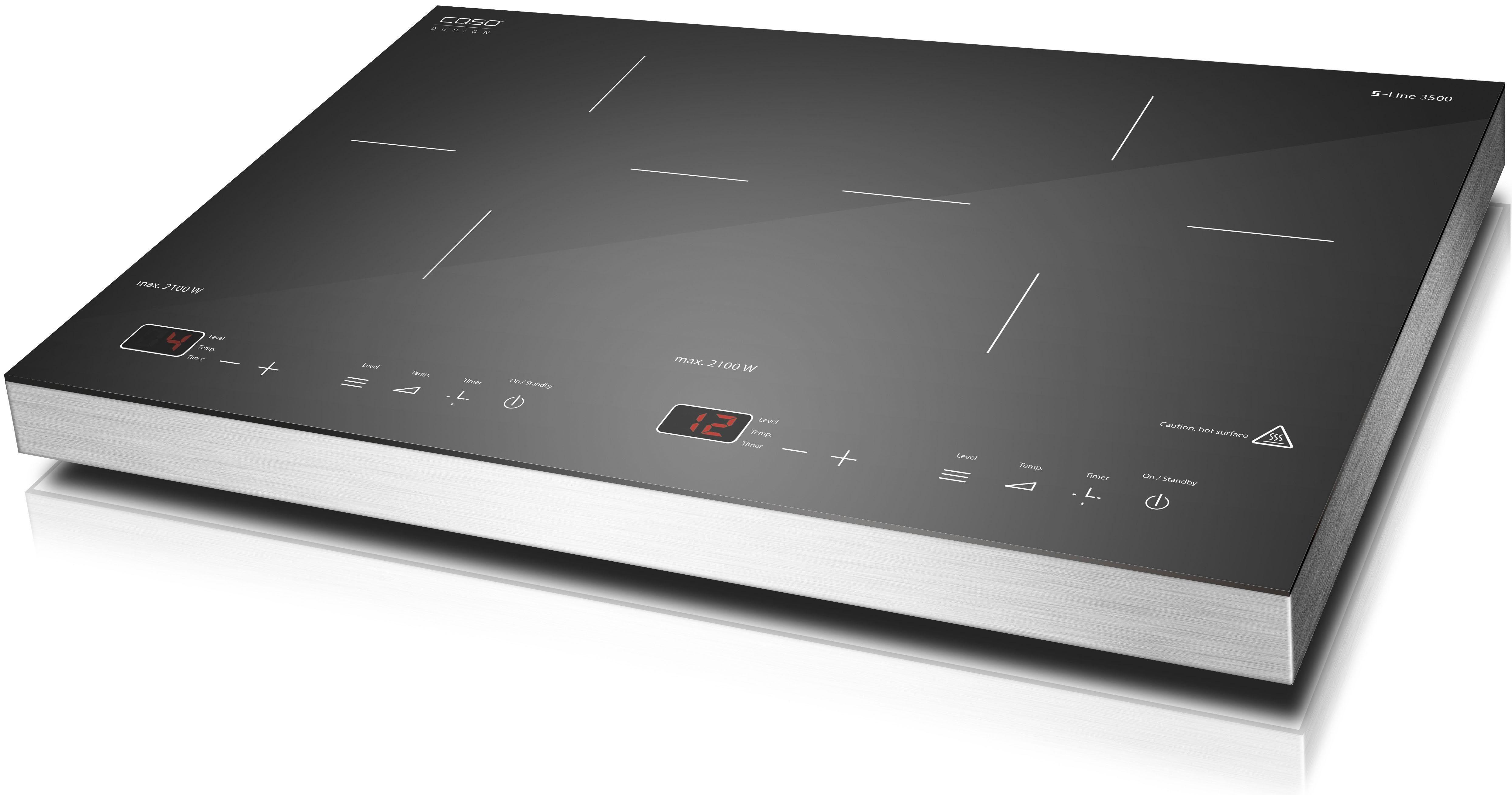 Caso Doppel-Induktionskochplatte S-Line 3500, 54 cm breit