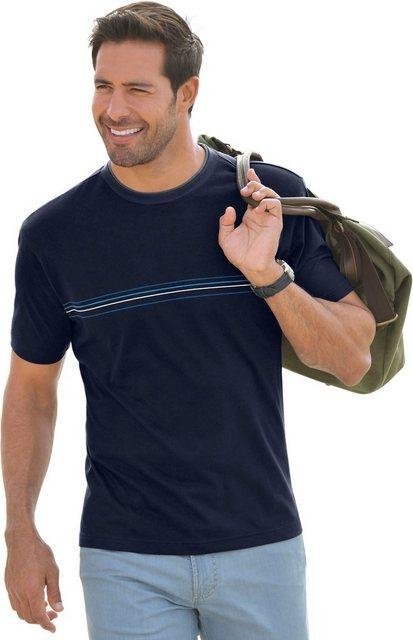 catamaran -  Kurzarm-Shirt mit Streifen-Print im Vorderteil
