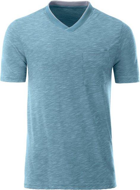 catamaran -  Kurzarm-Shirt mit kontrastfarbenem Einsatz am Ausschnitt