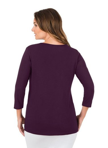 Trigema Shirt From Viscous 3/4 Sleeves