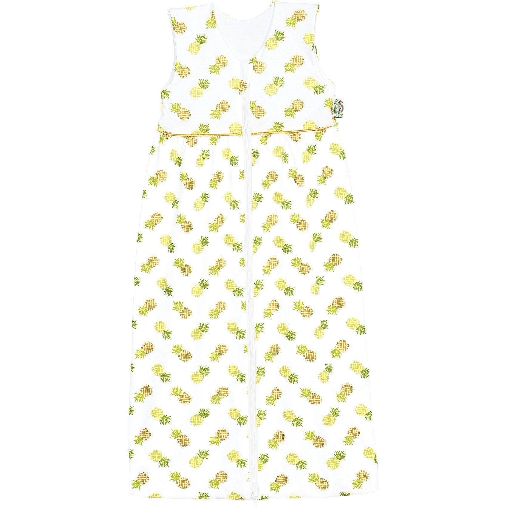 Odenwälder Sommer- Schlafsack Anni, Jersey, pineapple yellow 90 cm