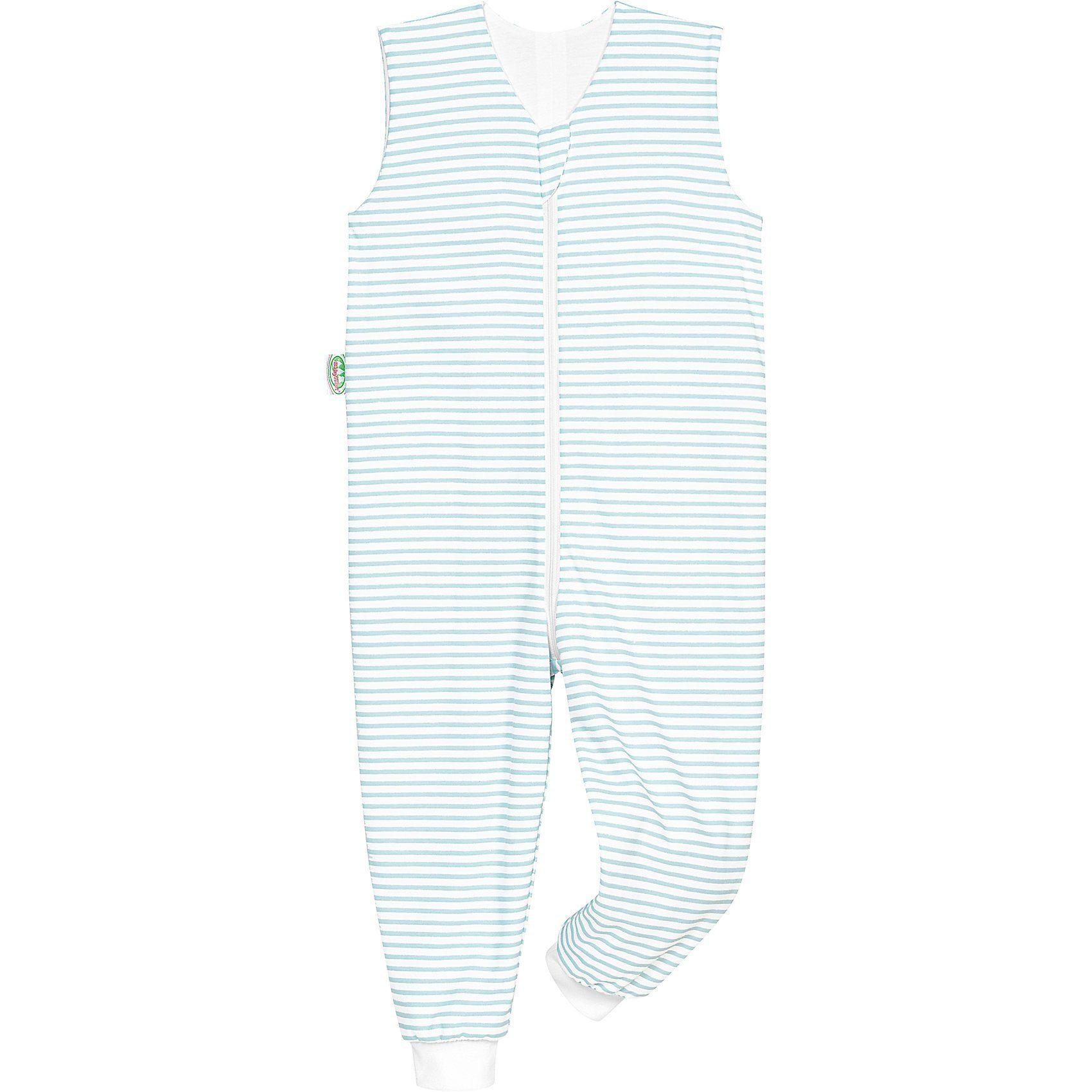 Odenwälder Schlafoverall Hopsi, Jersey, stripes soft mint, 98/104