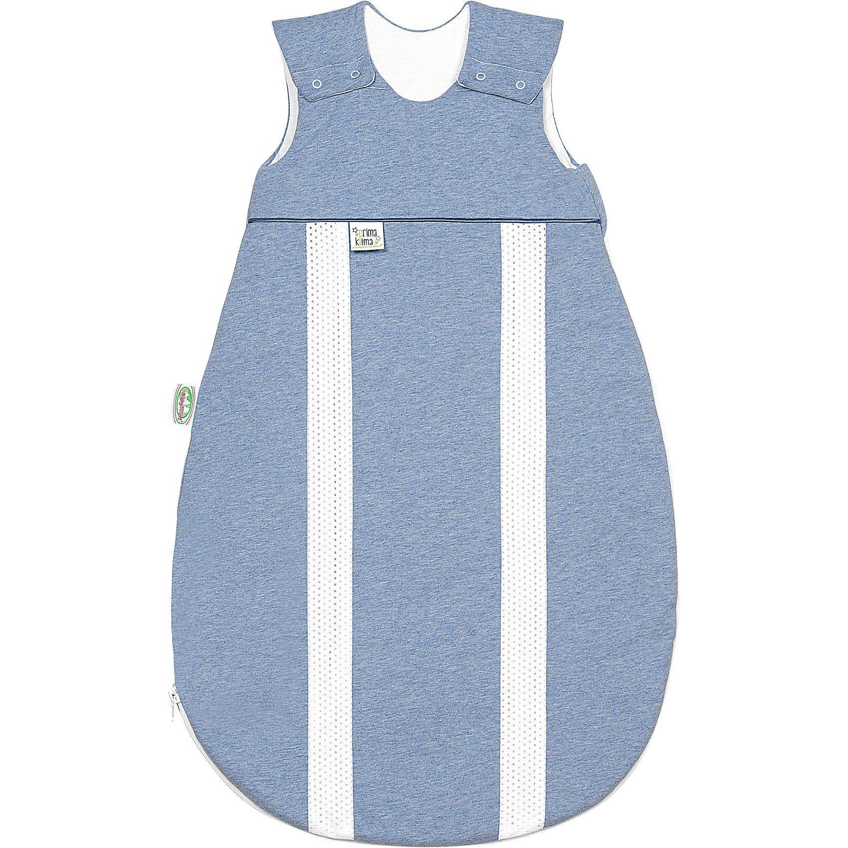 Odenwälder Schlafsack primaklima, Jersey, melange bleu, 130 cm | Baumarkt | Baumwolle - Polyester | Odenwälder