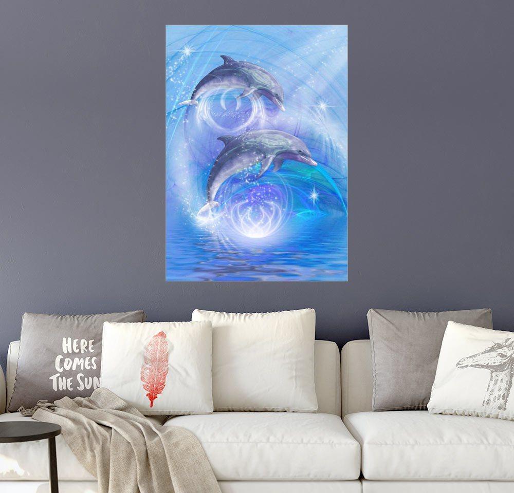 posterlounge wandbild dolphins dreamdesign dolphins joyride