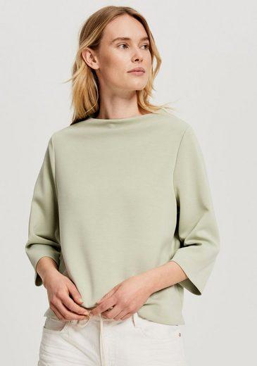 OPUS Sweatshirt »Gazu« mit kleinem Kragen