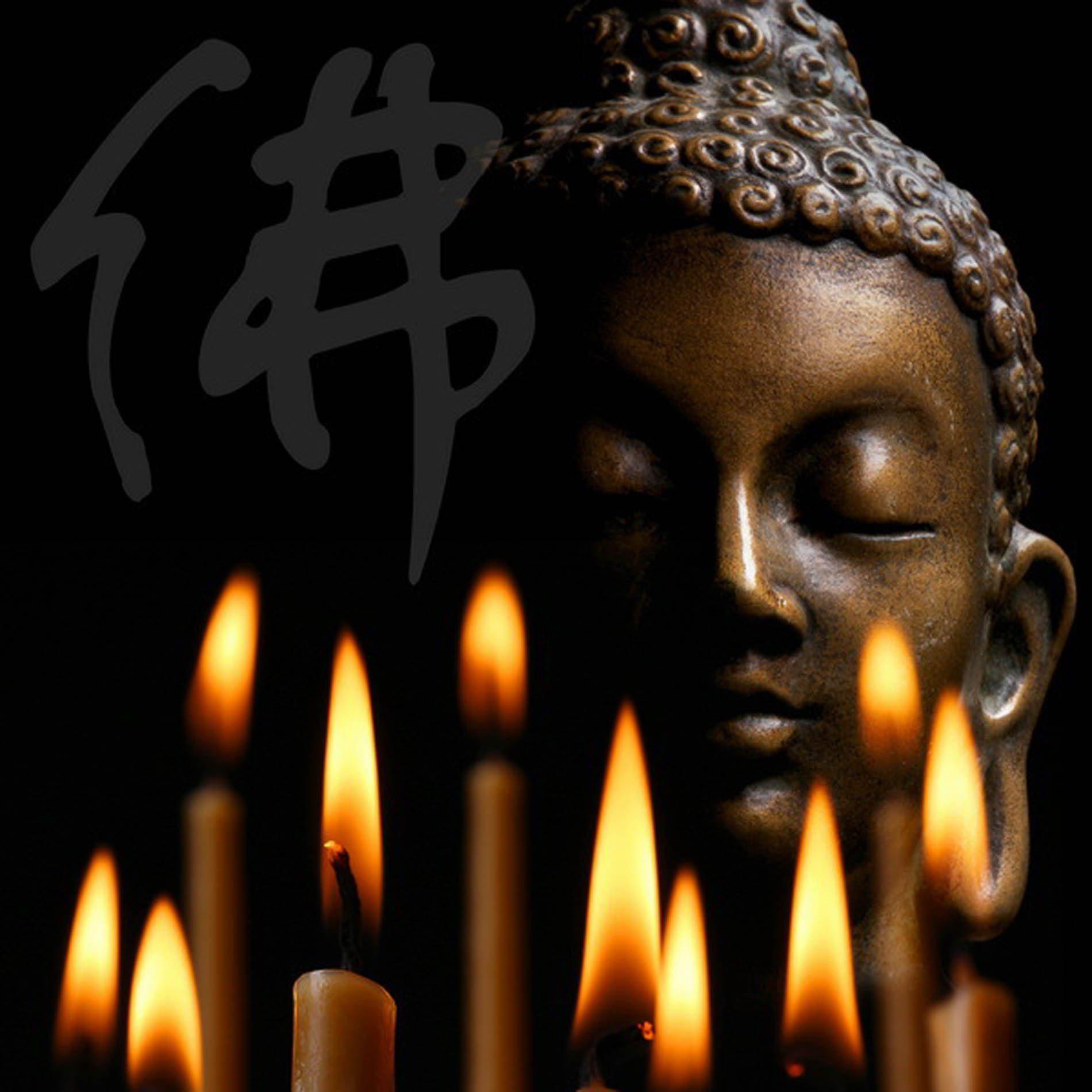 HTI-Line LED Wandbild »Buddha 5«
