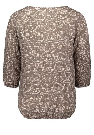 Public Blouse Dotted With Fashionable Collar Detail And Sleeves 3/4
