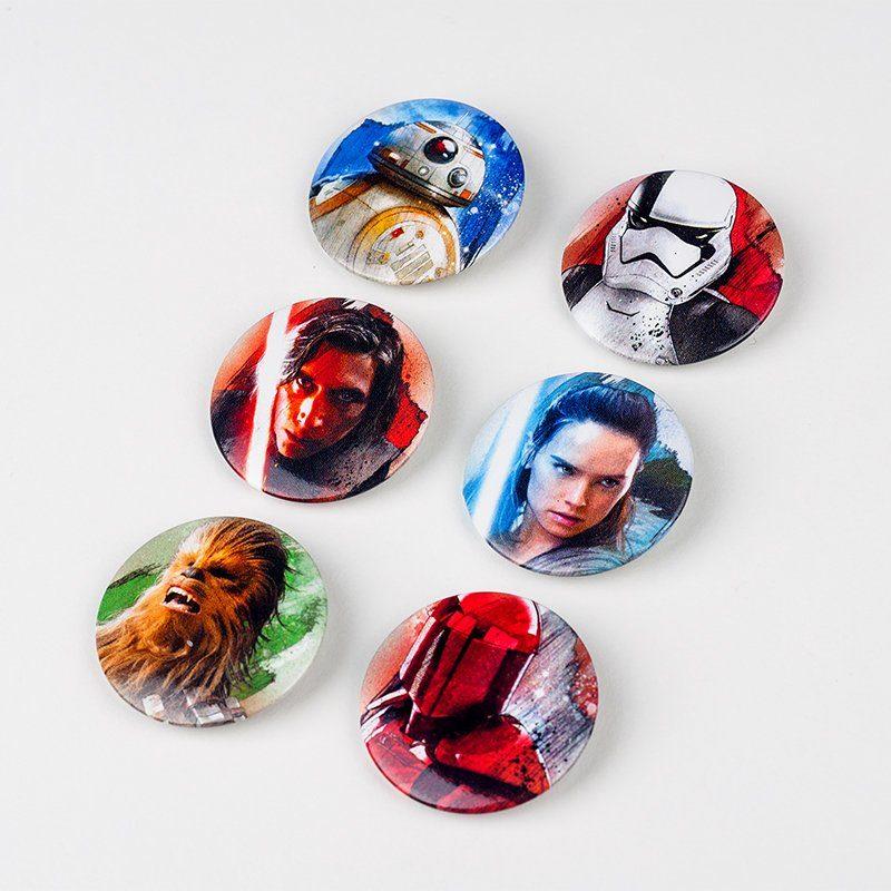Paladone Fanartikel »Star Wars EP 8 Anstecker 6 Stk.«
