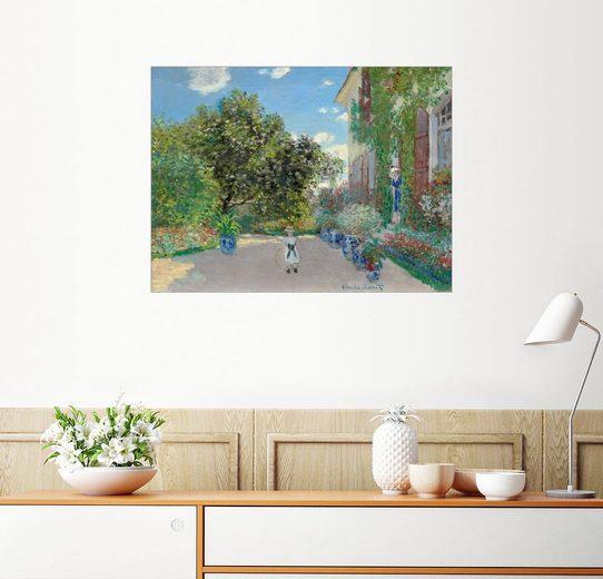 Posterlounge Wandbild - Claude Monet »Haus des Künstlers in Argenteuil«