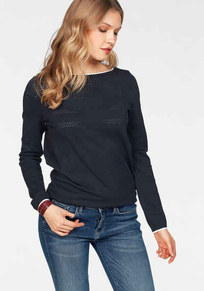 Tommy Hilfiger Pullover »IVY OPENWORK BOAT-NK SWTR« 935f49cf16