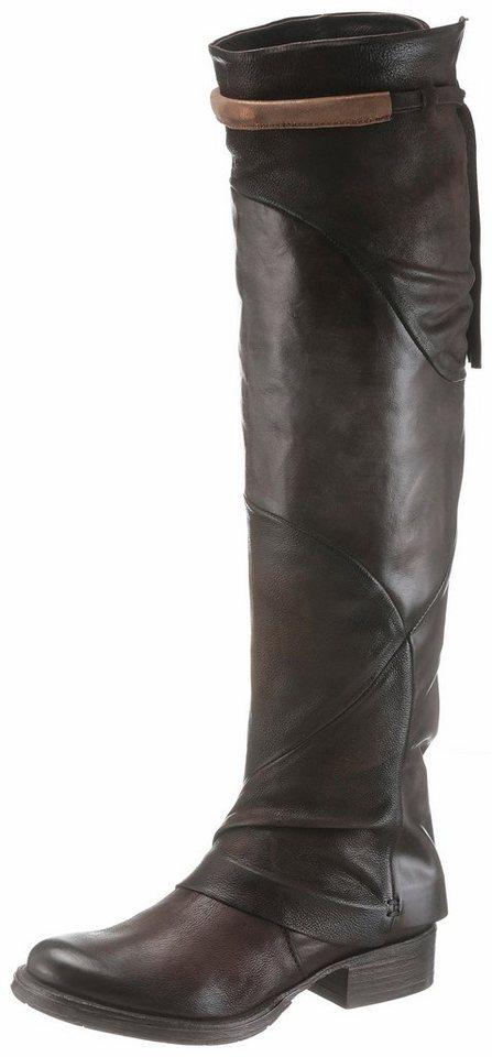Arizona Overkneestiefel im Patchwork-Look   Schuhe > Stiefel > Overknees   Braun   Leder - Jeans   Arizona