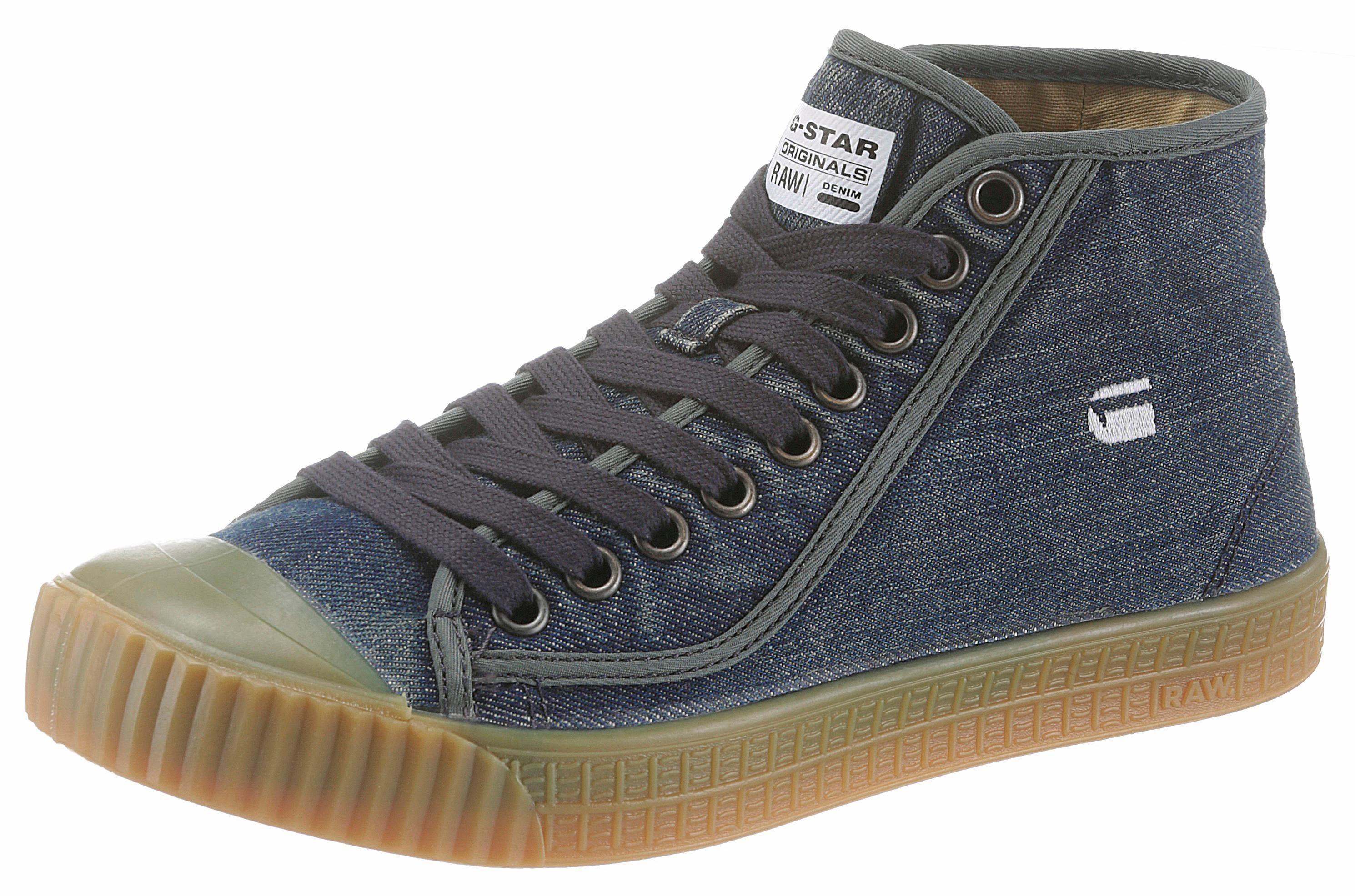 G-Star RAW Rovulc washed mid Sneaker, im angesagten Jeans-Look online kaufen  jeans