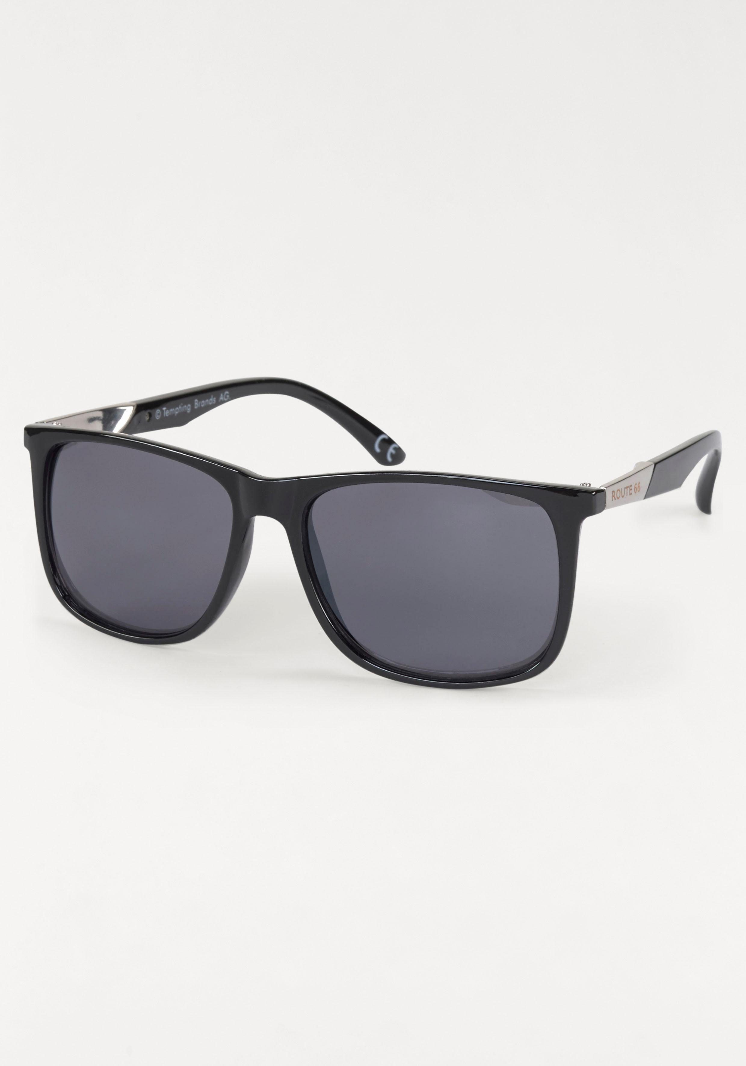 ROUTE 66 Feel the Freedom Eyewear Sonnenbrille, im coolen Design, schwarz, schwarz