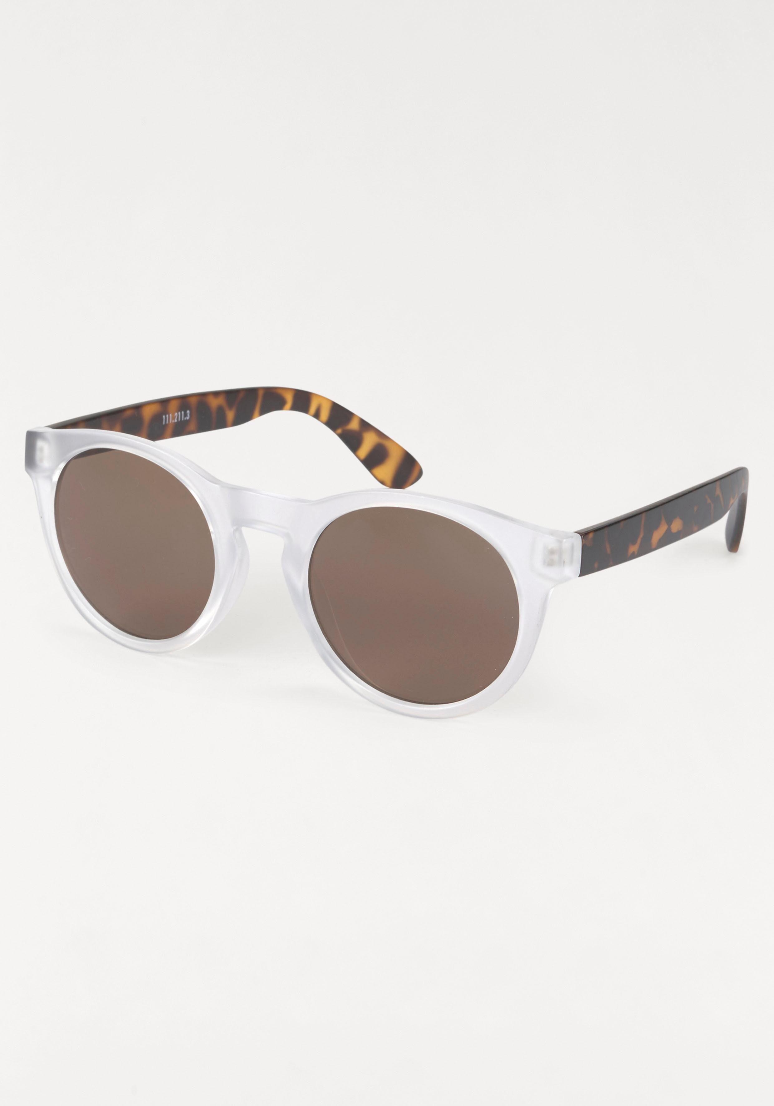 PRIMETTA Eyewear Sonnenbrille, mit gemusterten Bügeln, weiß, weiß-braun