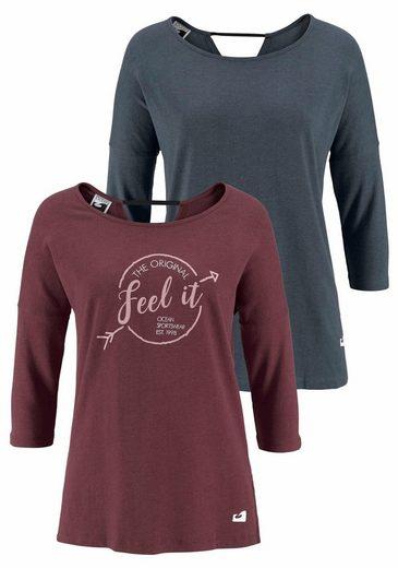 Ocean Sportswear T-Shirt (Packung, 2-tlg., 2er-Pack) Raffinierter Rückenausschnitt