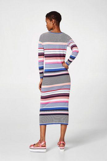 ESPRIT Leichtes Strickkleid aus 100% Baumwolle