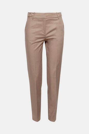 ESPRIT COLLECTION Baumwoll-Stretch-Hose mit Taillenband