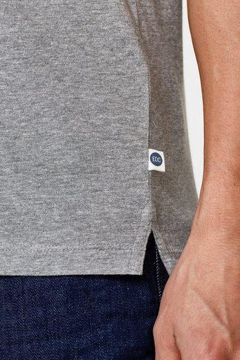 EDC BY ESPRIT Jersey-Shirt mit Ripp-Bündchen