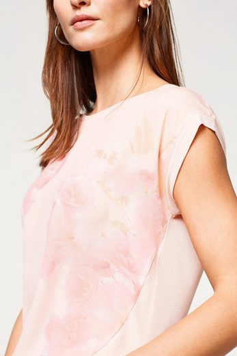 ESPRIT COLLECTION Seidiges Blusen-Shirt mit Rosen-Print