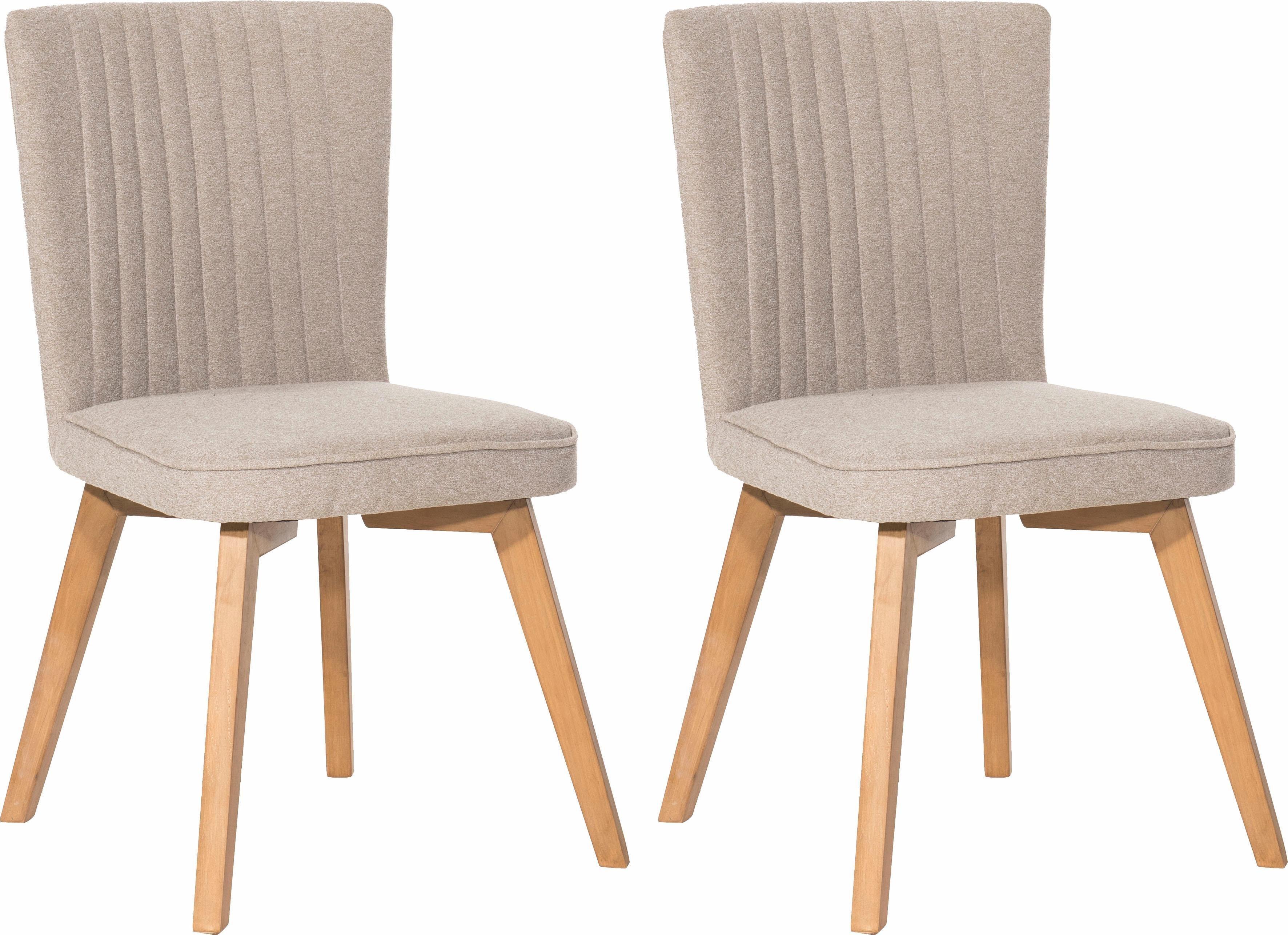 SIT Polsterstuhl »4733« mit ausgestellten Holzbeinen (2er Set) | Küche und Esszimmer > Stühle und Hocker > Polsterstühle | Stoff | SIT