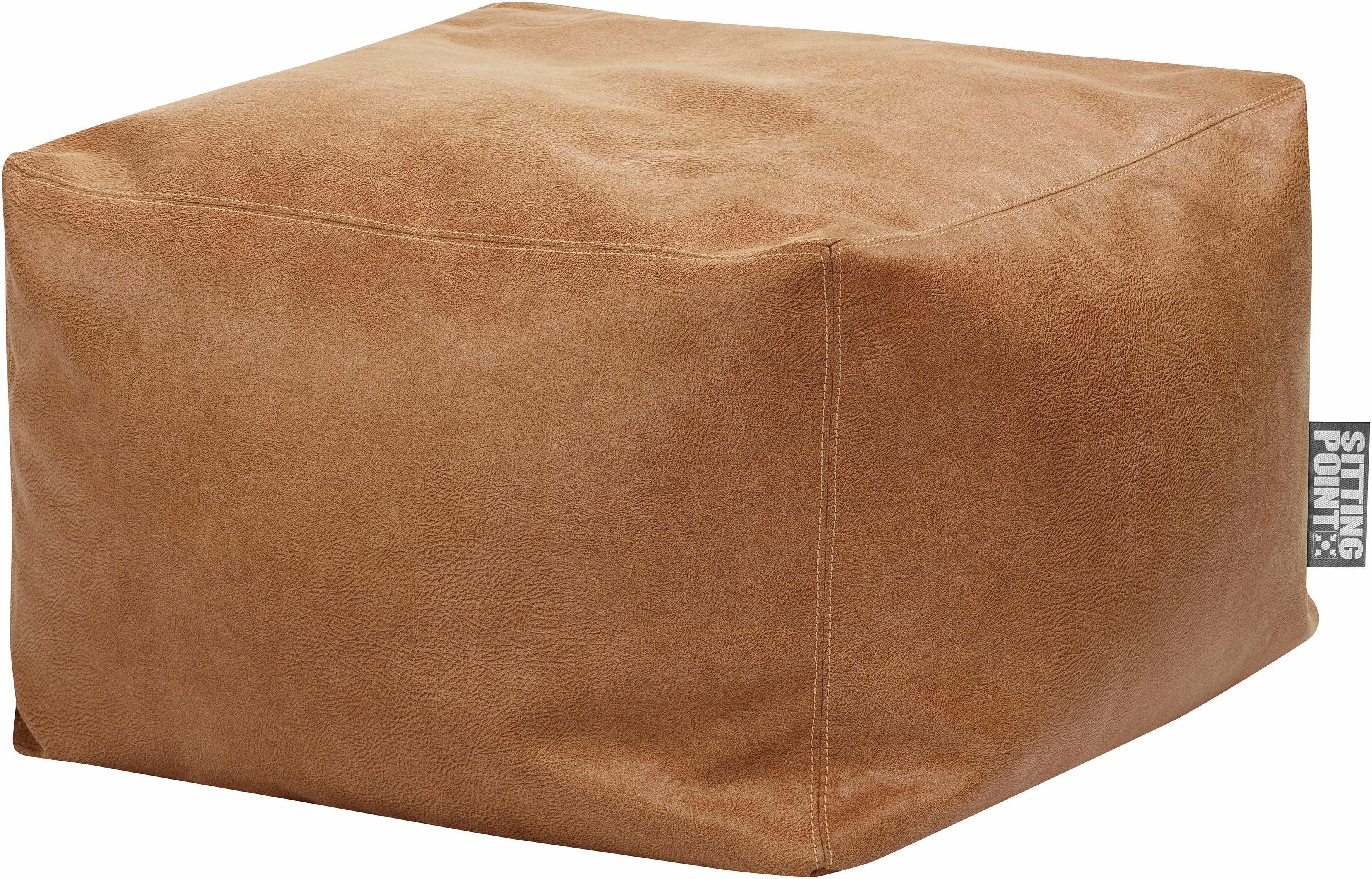 Sitting Point Sitzsack »Sitzhocker Loft JIMMY« Lederimitat