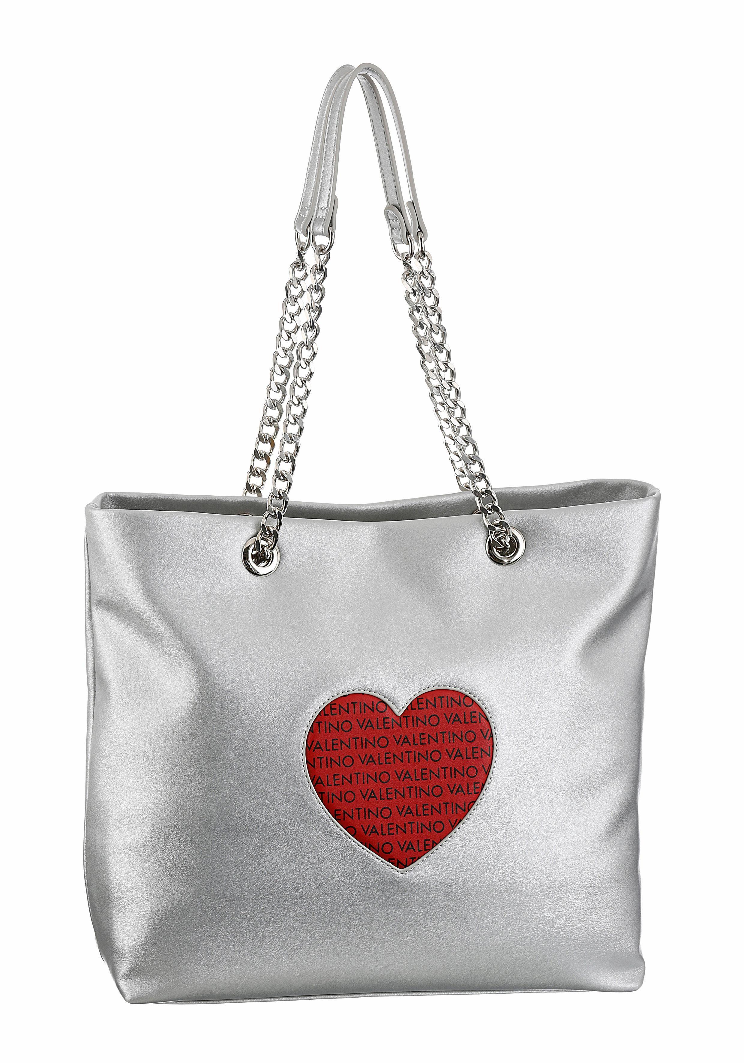 Valentino handbags Shopper »SUMMER LOVE«, mit Herzapplikation im Label-Druck