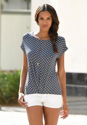 LASCANA Shirt mit Faltendetail am Saum