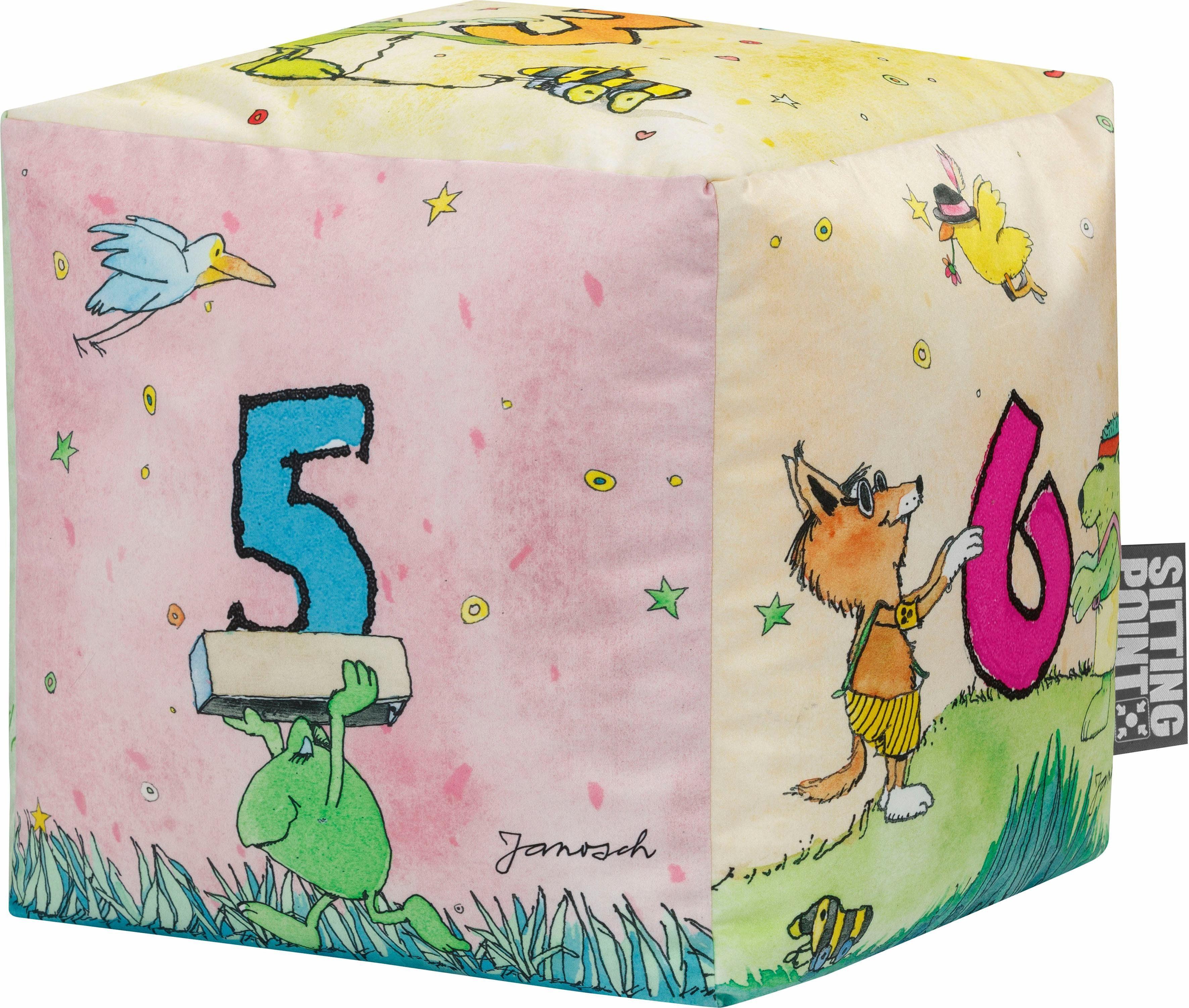 Sitting Point Sitzsack »Sitzhocker Cube JANOSCH« offizielles Lizenzprodukt