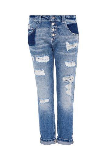 HALLHUBER Boyfriend-Jeans im Destroyed-Look
