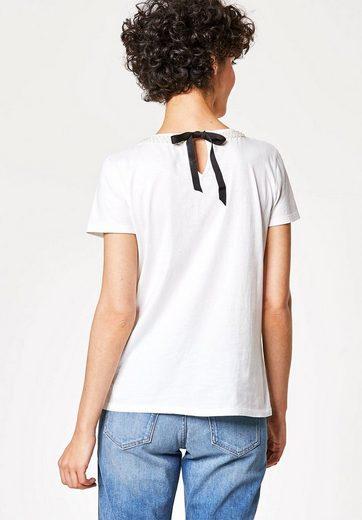 HALLHUBER Statement-T-Shirt mit Ripsschleife