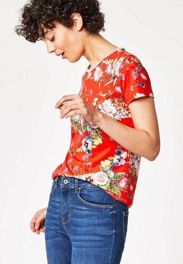 HALLHUBER T-Shirt mit Perlenausschnitt