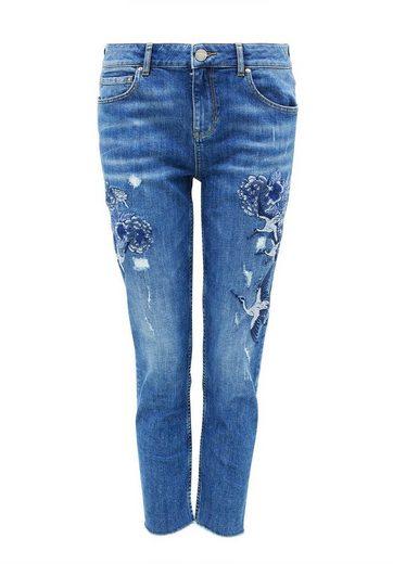 HALLHUBER Slim Boyfriend-Jeans mit Stickerei