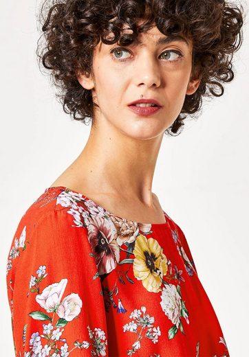HALLHUBER Crêpe-Bluse mit gebundenen Manschetten