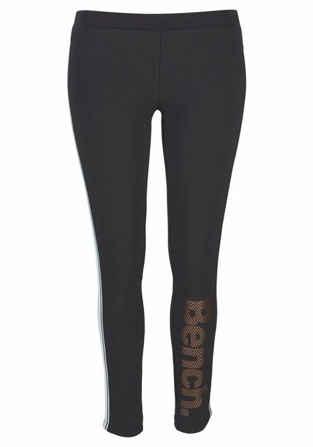 Hosen - Bench. Leggings mit Logodruck in Metalloptik › schwarz  - Onlineshop OTTO