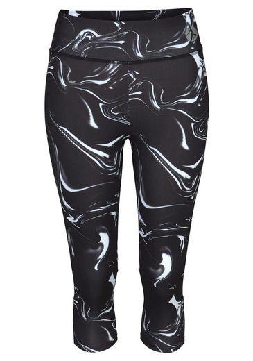 By Capri Lascana Schwarz Marmoriert leggings »black Marble« Bund Mit Breitem Active Yb6gmfyIv7