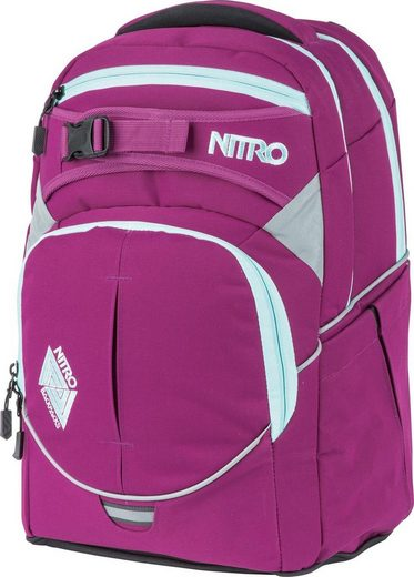 NITRO Schulrucksack »Superhero Grateful Pink«, mit gratis Pencil Case & Duffle Bag