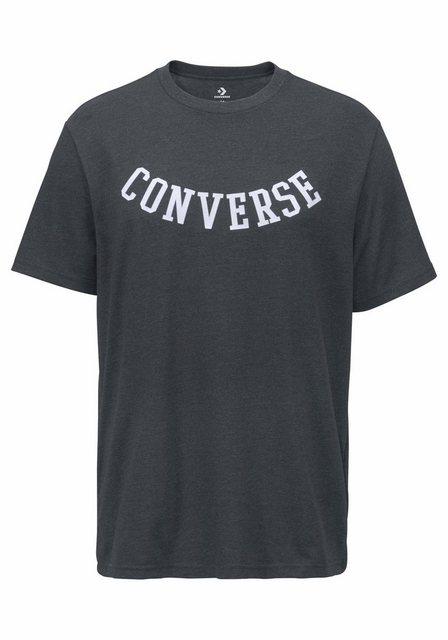 Herren Converse T-Shirt CONVERSE REVERSE ATHLETIC ARCH TEE grau | 00888755711880