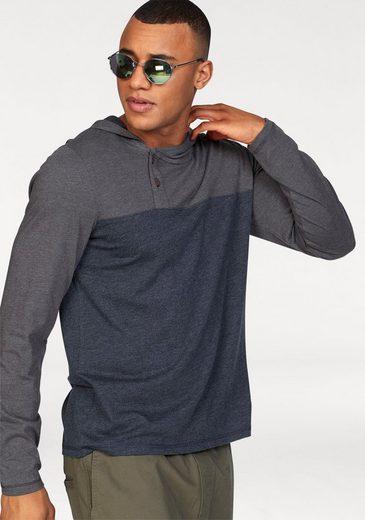 Ocean Sportswear Langarmshirt Asymmetrische Knopfleiste