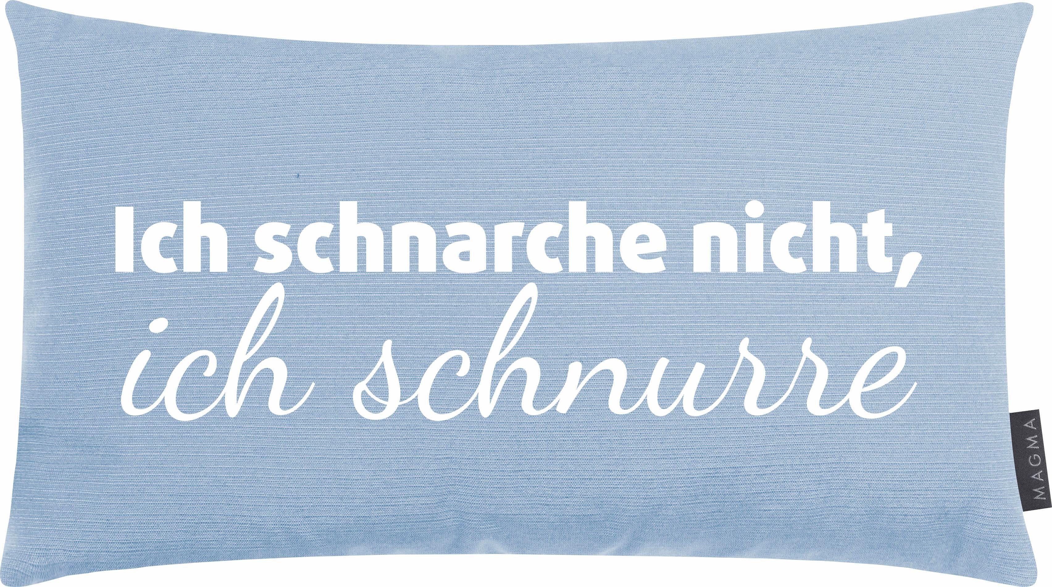 Dekokissen »Ich schnarche«, Magma Heimtex, mit Schriftzug