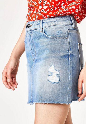 HALLHUBER Jeans-Minirock mit Destroys