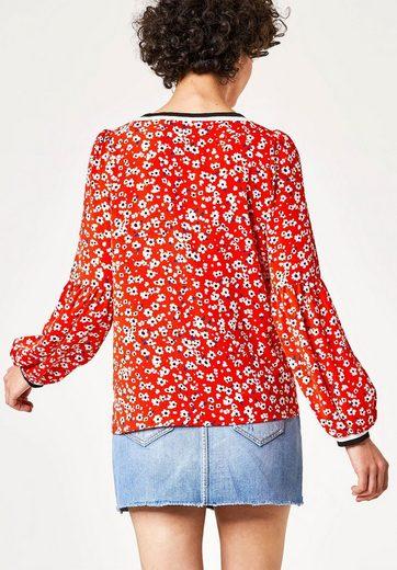 HALLHUBER Print-Bluse mit Ballonärmeln