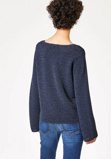 HALLHUBER Lurex-Pullover mit weiten Ärmeln