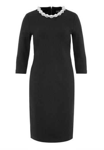 HALLHUBER Jerseykleid mit perlenverziertem Ausschnitt