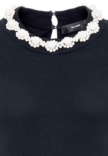 HALLHUBER Feinstrickpullover mit Perlenausschnitt