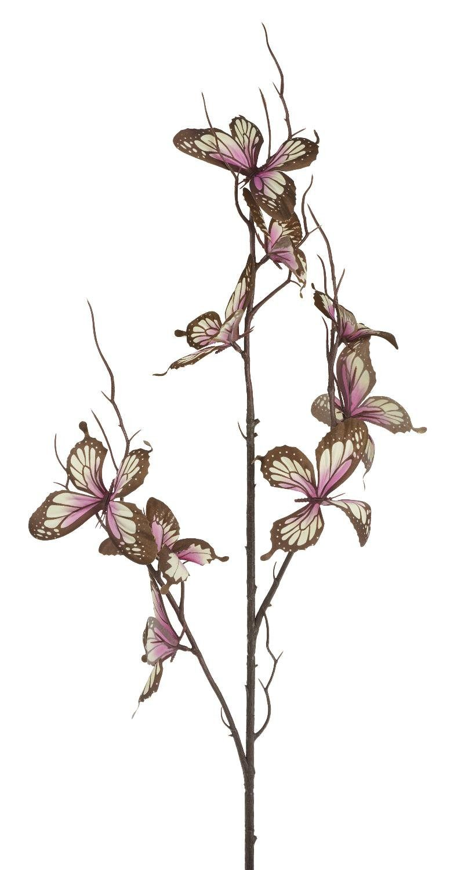 "Dekozweig ""Schmetterling rosa"" 76 cm lang"