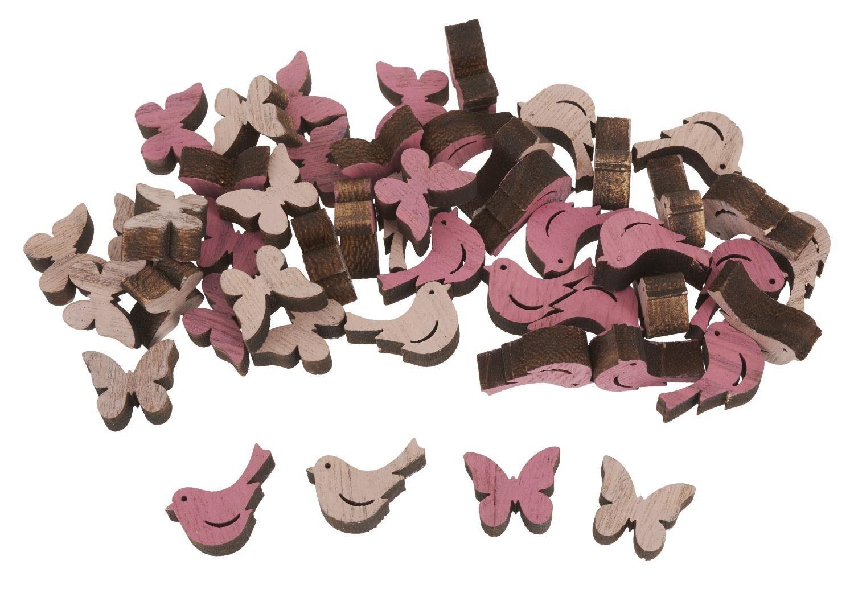 """VBS Holz-Streuteile """"Pink Bloom"""" 48-tlg."""