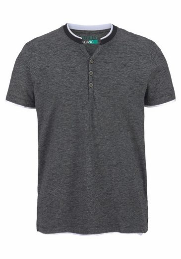 Esprit Henley Shirt, Button With The Cutout