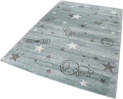 Kinderteppich »Yoda«, Esprit, rechteckig, Höhe 13 mm, Weltall Design, Kurzflor